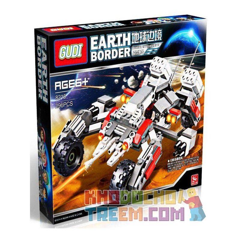 Xinlexin Gudi 8215 (NOT Lego Star wars Thunder Shelling ) Xếp hình Xe Thiết Giáp Địa Hình Gắn Pháo 296 khối
