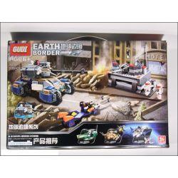 Gudi 8216 Xếp hình kiểu LEGO Earth Border Earth Border Trung Tâm Phòng Vệ 531 khối