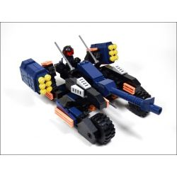GUDI 8214 Xếp hình kiểu Lego EARTH BORDER Earth Border Xe Pháo 4 Bánh 223 khối