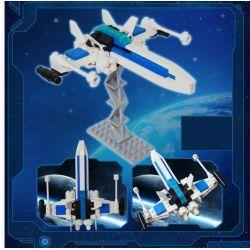GUDI 8606 Xếp hình kiểu Lego STAR WARS Blue Serene Fighter Phi Thuyền Chiến đấu Không Người Lái Màu Xanh 82 khối