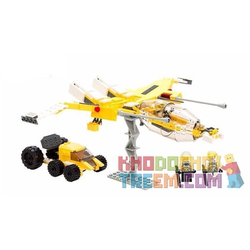 Xinlexin Gudi 8615 (NOT Lego Star wars Space War Interstellar Transport ) Xếp hình Phi Thuyền Yểm Trợ Xe Pháo 282 khối