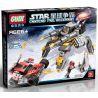 Xinlexin Gudi 8616 (NOT Lego Star wars Space War Storms Rocked ) Xếp hình Rô Bốt Nhện Tác Chiến Xe Địa Hình 342 khối