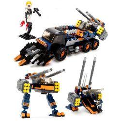 Gudi 8617 Xếp hình kiểu LEGO Star wars Space War Assault Tank Xe Tải Bọc Thép Chở Robot Bộ Binh 401 khối