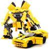 Xinlexin Gudi 8711 (NOT Lego Transformers Bumblebee ) Xếp hình Rô Bốt Biến Hình Xe Ô Tô Bumblebee Chevrolet Camaro Vàng lắp được 2 mẫu 238 khối
