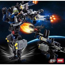 GUDI 8712 Xếp hình kiểu Lego TRANSFORMERS Transform Series Deformation Series Dinosaur Rô Bốt Biến Hình Chó Sói lắp được 2 mẫu 304 khối