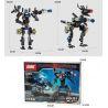 Xinlexin Gudi 8712 (NOT Lego Transformers Dinosaul Wolf ) Xếp hình Rô Bốt Biến Hình Chó Sói lắp được 2 mẫu 304 khối