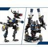 Xinlexin Gudi 8712 (NOT Lego Transformers Dinosaul Wolf ) Xếp hình Rô Bốt Biến Hình Chó Sói 304 khối