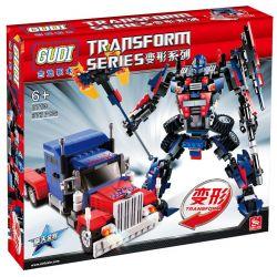 GUDI 8713 Xếp hình kiểu Lego TRANSFORMERS Transform Series Deformation Series Optory King Kong Thủ Lĩnh Tối Cao Autobot Robot Biến Hình Xe đầu Kéo Peterbilt lắp được 2 mẫu 379 khối