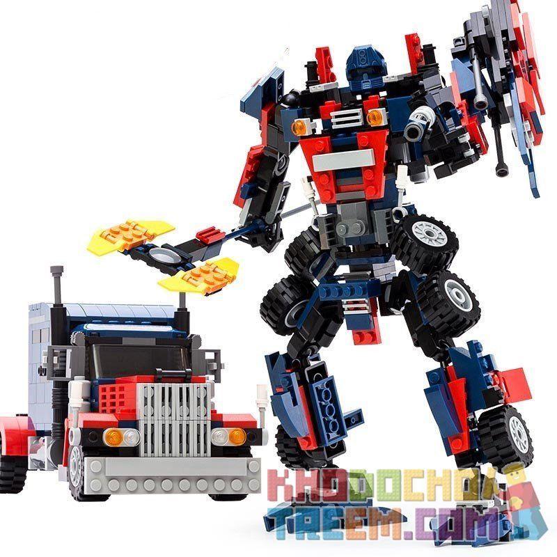 GUDI 8713 Xếp hình kiểu Lego TRANSFORMERS Transform Series Deformation Series Sky King Kong Thủ Lĩnh Tối Cao Autobot Robot Biến Hình Xe đầu Kéo Peterbilt lắp được 2 mẫu 379 khối