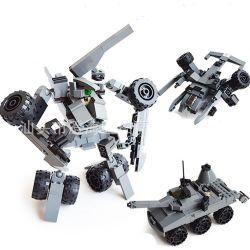 Gudi 8114 Xếp hình kiểu LEGO Creator 3 in 1 Rô Bốt Biến Hình Phi Thuyền, Xe Tăng 193 khối