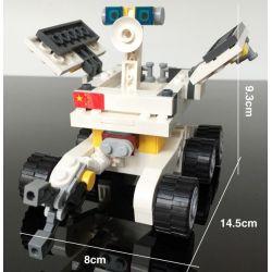 GUDI 8811 Xếp hình kiểu Lego CITY Lunar Probe Station Xe Tự Hành Trên Mặt Trăng 238 khối