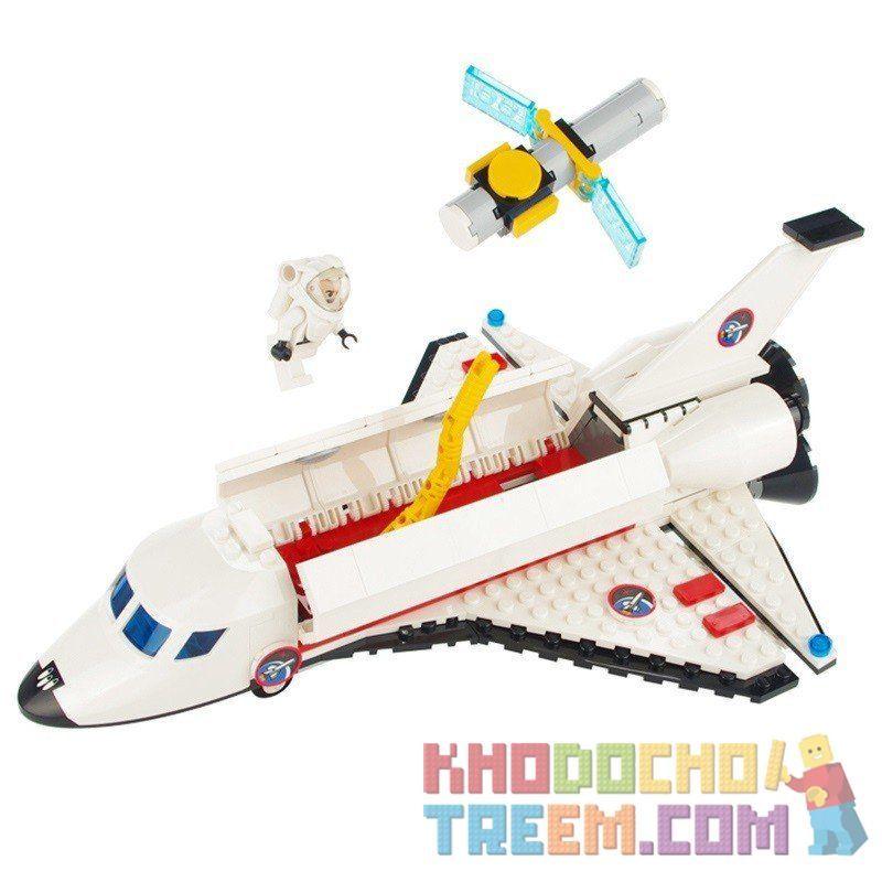 Xinlexin Gudi 8814 (NOT Lego City Space Shuttle ) Xếp hình Tàu Con Thoi Thả Vệ Tinh 297 khối