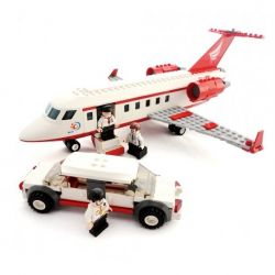 GUDI 8911 Xếp hình kiểu Lego CITY Private Aircraft Private Plane Chuyên Cơ VIP Và Xe Limousine 334 khối