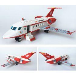 GUDI 8911 Xếp hình kiểu Lego CITY Private Aircraft Chuyên Cơ VIP Và Xe Limousine 334 khối