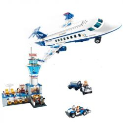 GUDI 8912 Xếp hình kiểu Lego CITY International Airport Sân Bay Với Máy Bay Chở Khách Cỡ Vừa 652 khối