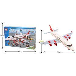GUDI 8913 Xếp hình kiểu Lego CITY Large Passenger Plane Máy Bay Chở Khách Cỡ Lớn Hạ Cánh Xuống Sân Bay 856 khối