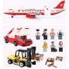 Xinlexin Gudi 8913 (NOT Lego City Airport ) Xếp hình Máy Bay Chở Khách Cỡ Lớn Hạ Cánh Xuống Sân Bay 856 khối