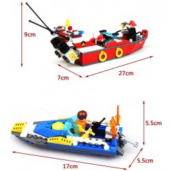 GUDI 9213 Xếp hình kiểu Lego CITY Fire Boat Xuồng Cứu Hỏa Chữa Cháy Cano 315 khối