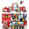 Xinlexin Gudi 9217 (NOT Lego City Fire Station ) Xếp hình Trụ Sở Cứu Hỏa Với Trực Thăng Và Ô Tô Cứu Hỏa 874 khối
