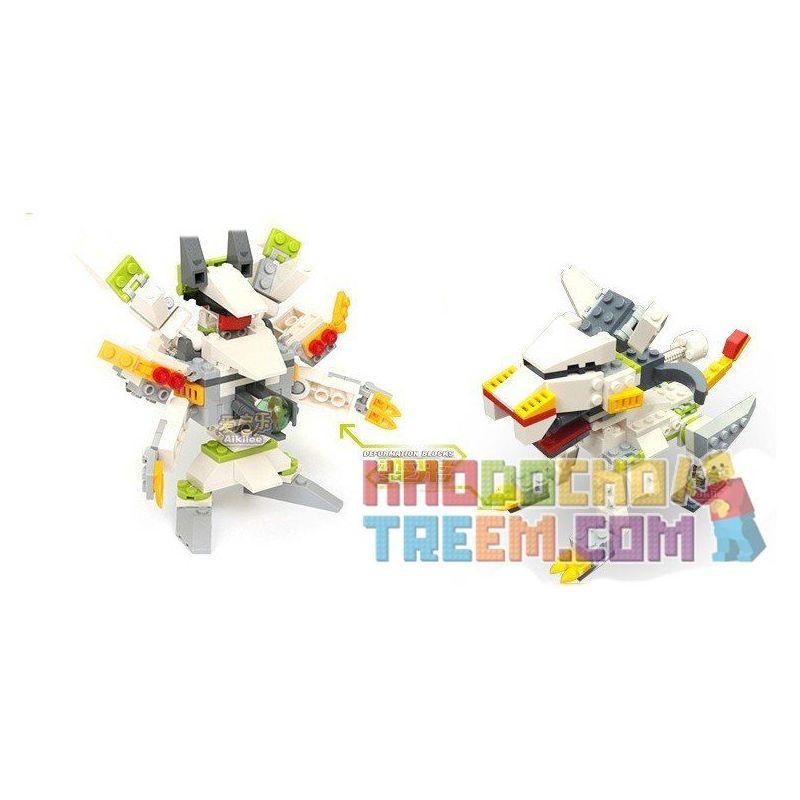 Gudi 9907 Xếp hình kiểu LEGO Transformers Saint Lightning Tiger Rô Bốt Biến Hình Hổ Sấm Sét Bắn đại Bác Tròn 121 khối