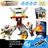 Xinlexin Gudi 9907 (NOT Lego Transformers Saint Lightning Tiger ) Xếp hình Rô Bốt Biến Hình Hổ Sấm Sét Bắn Đại Bác Tròn lắp được 2 mẫu 121 khối