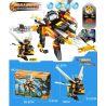 Xinlexin Gudi 9909 (NOT Lego Transformers The Killer Bee ) Xếp hình Rô Bốt Biến Hình Ong Sát Thủ Bắn Đại Bác Tròn lắp được 2 mẫu 121 khối
