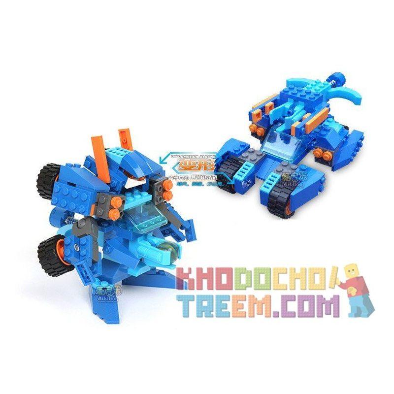 Xinlexin Gudi 9910 (NOT Lego Transformers Volcano Storm ) Xếp hình Rô Bốt Biến Hình Bão Lửa Bắn Đại Bác Tròn lắp được 2 mẫu 119 khối