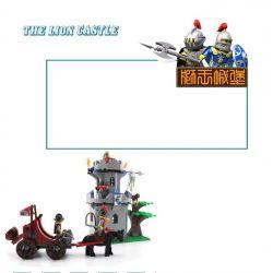 Enlighten 1019 Qman 1019 Xếp hình kiểu Lego Castle Knights Castle Jungle Bunker Tấn Công Pháo đài Trong Rừng 262 khối