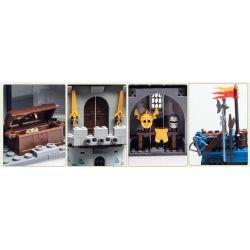 Enlighten Qman 1020 Xếp hình kiểu LEGO Castle Castle Knights Phòng Thủ Lâu đài Nhà Vua 267 khối