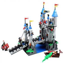 Enlighten 1022 (NOT Lego Castle 70404 The Lion Castle Gate Room ) Xếp hình Phòng Thủ Cổng Lâu Đài Sư Tử 996 khối