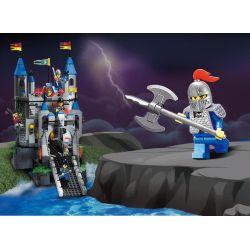 Enlighten Qman 1022 Xếp hình kiểu LEGO Castle Castle Knights Phòng Thủ Cổng Lâu đài Sư Tử 546 khối