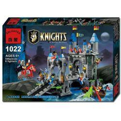 Enlighten 1022 Qman 1022 Xếp hình kiểu Lego Castle Knights Castle Lion Bunker Phòng Thủ Cổng Lâu đài Sư Tử 546 khối
