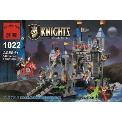 Enlighten 1022 Qman 1022 KEEPPLEY 1022 Xếp hình kiểu Lego Castle Knights Castle Lion King Bunker Phòng Thủ Cổng Lâu đài Sư Tử 546 khối