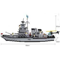 Enlighten 112 Qman 112 KEEPPLEY 112 Xếp hình kiểu Lego MILITARY ARMY CombatZones:Warship Tàu Chiến Sân Bay 970 khối