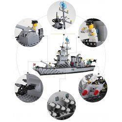 Enlighten 112 Qman 112 KEEPPLEY 112 Xếp hình kiểu Lego MILITARY ARMY CombatZones Warship Cruiser Tàu Chiến Sân Bay 970 khối