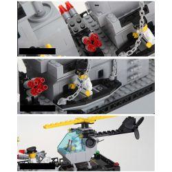 Enlighten 112 Qman 112 Xếp hình kiểu Lego MILITARY ARMY CombatZones Warship Cruist Warship Tàu Chiến Sân Bay 970 khối