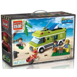 Enlighten 1120 (NOT Lego City 7639 Camper ) Xếp hình Picnic Bãi Biển Vui Vẻ 300 khối