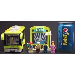 Enlighten 1121 Qman 1121 Xếp hình kiểu Lego CITY City Buses Xe Buýt Thành Phố 418 khối