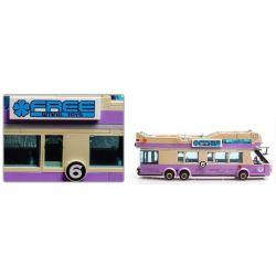 Enlighten 1123 Qman 1123 Xếp hình kiểu Lego CITY Sightseeing Bus Xe Buýt Du Lịch 2 Tầng 455 khối