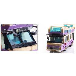 Enlighten 1123 Qman 1123 KEEPPLEY 1123 Xếp hình kiểu Lego CITY Sightseeing Bus Xe Buýt Du Lịch 2 Tầng 455 khối