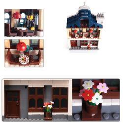 Enlighten 1127 Qman 1127 Xếp hình kiểu LEGO City Sunshine Hotel Khách Sạn Mặt Trời 628 khối