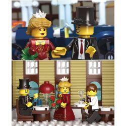 Enlighten 1127 Qman 1127 KEEPPLEY 1127 Xếp hình kiểu Lego CITY Sunshine Hotel Khách Sạn Mặt Trời 628 khối