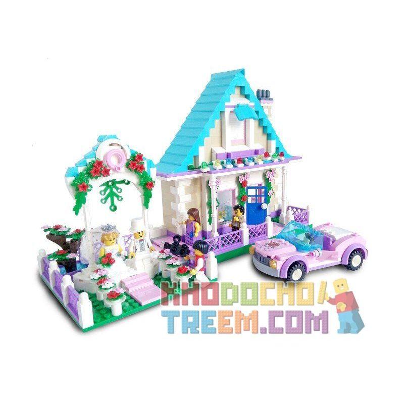Enlighten 1129 Qman 1129 KEEPPLEY 1129 Xếp hình kiểu Lego CITY Wedding Room đám Cưới Hạnh Phúc 613 khối