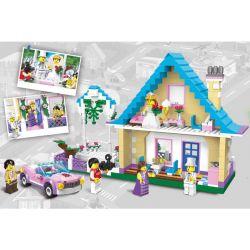 Enlighten 1129 Qman 1129 Xếp hình kiểu Lego CITY Wedding Room Marriage Room đám Cưới Hạnh Phúc 613 khối