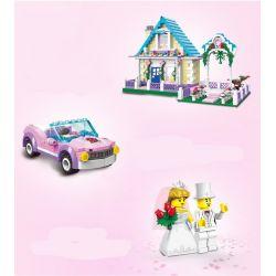 Enlighten 1129 Qman 1129 KEEPPLEY 1129 Xếp hình kiểu Lego CITY Wedding Room Marriage Room đám Cưới Hạnh Phúc 613 khối