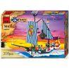 Enlighten 305 (NOT Lego Pirates of the Caribbean 6291 6280 Imperial Armada Flagship ) Xếp hình Tàu Chiến Hoàng Gia Bắt Cướp Biển 310 khối