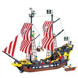 Enlighten 308 Qman 308 Xếp hình kiểu Lego PIRATES OF THE CARIBBEAN Black Seas Barracuda Hailoros Tàu Cướp Biển gồm 2 hộp nhỏ 906 khối