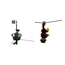 NOT Lego PIRATES OF THE CARIBBEAN 10040 6285 Black Seas Barracuda, Enlighten 308 Qman 308 KEEPPLEY 308 Xếp hình Tàu Cướp Biển gồm 2 hộp nhỏ 906 khối