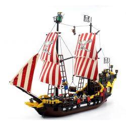 NOT Lego PIRATES OF THE CARIBBEAN 10040 6285 Black Seas Barracuda Black Sea Barracuda , Enlighten 308 Qman 308 KEEPPLEY 308 Xếp hình Tàu Cướp Biển gồm 2 hộp nhỏ 906 khối