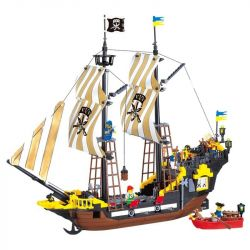 Enlighten 307 (NOT Lego Pirates of the Caribbean 6285 Black Seas Barracuda ) Xếp hình Tàu Cướp Biển Râu Đỏ 590 khối